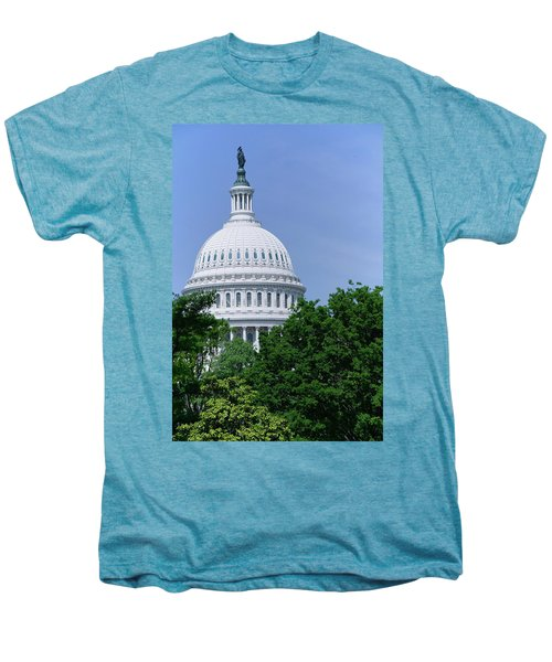 Trees In Spring And U.s. Capitol Dome Men's Premium T-Shirt
