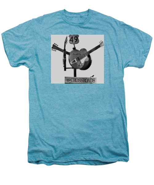 Tribute To The Blues At The Crossroads Men's Premium T-Shirt by Dan Sproul