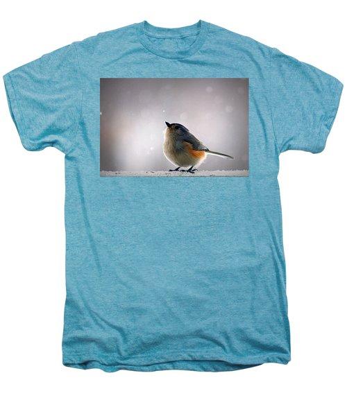 Tufted Titmouse Men's Premium T-Shirt by Cricket Hackmann