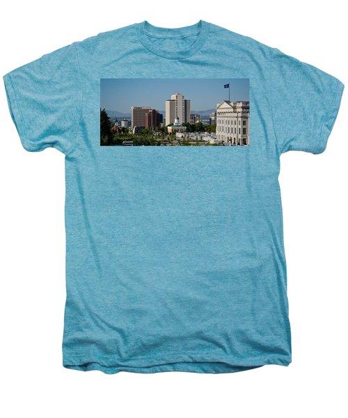 Utah State Capitol Building, Salt Lake Men's Premium T-Shirt by Panoramic Images