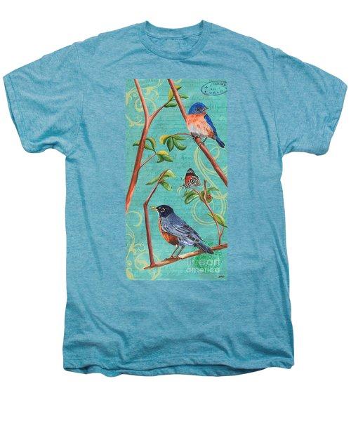 Verdigris Songbirds 1 Men's Premium T-Shirt