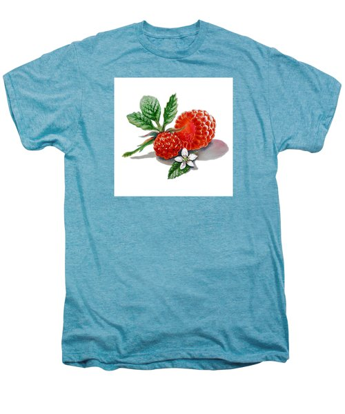 Artz Vitamins A Very Happy Raspberry Men's Premium T-Shirt by Irina Sztukowski