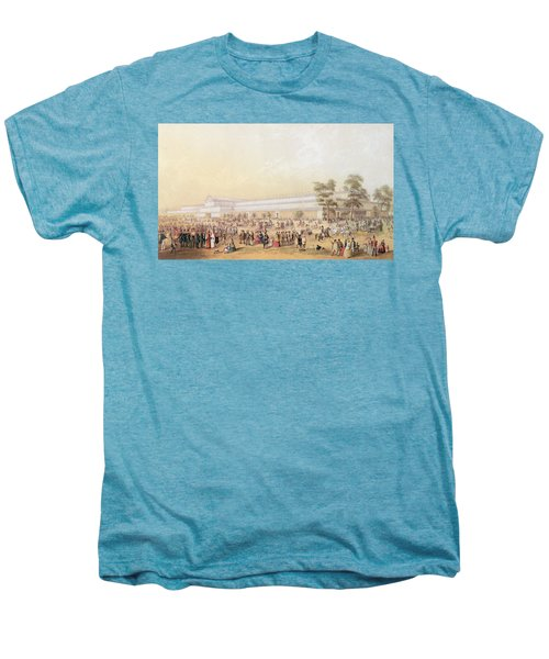 View Of The Crystal Palace Men's Premium T-Shirt by George Baxter
