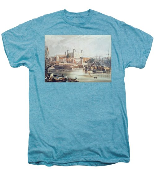 View Of The Tower Of London Men's Premium T-Shirt by John Gendall