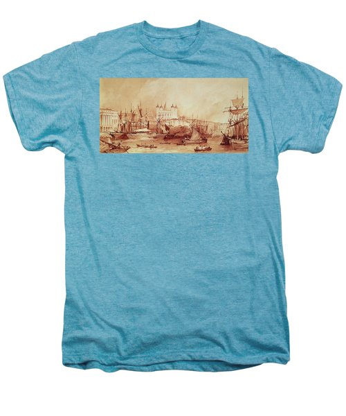 View Of The Tower Of London Men's Premium T-Shirt by William Parrott