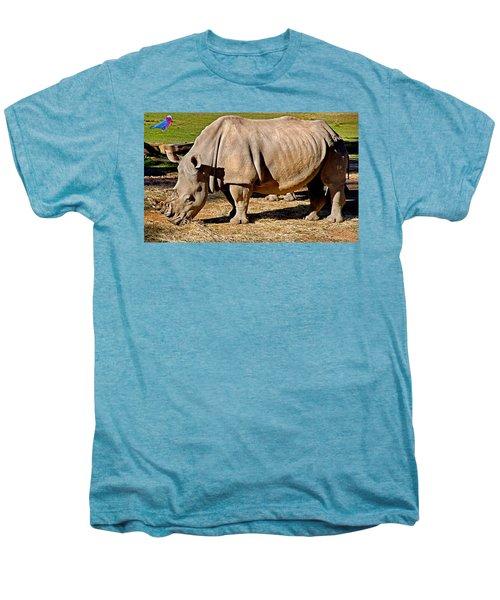 Vip Cockatoo Visitor Gets Closer Look Men's Premium T-Shirt by Miroslava Jurcik