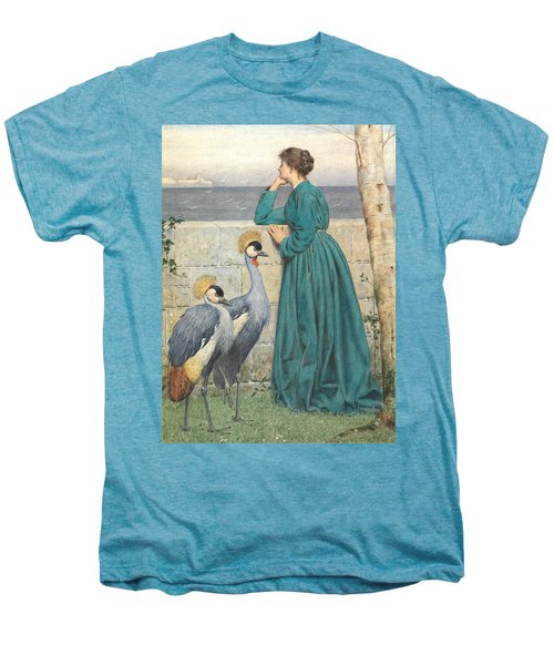 Waiting And Watching Men's Premium T-Shirt by Henry Stacey Marks