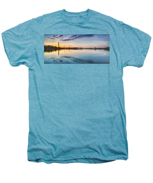 Washington Dc Panorama Men's Premium T-Shirt by Sebastian Musial