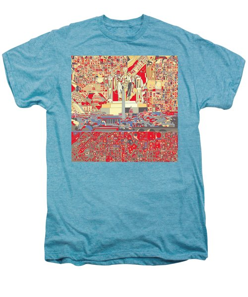 Washington Dc Skyline Abstract 6 Men's Premium T-Shirt