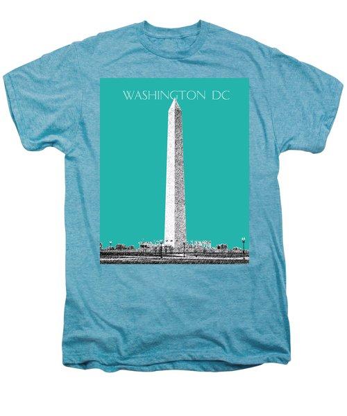 Washington Dc Skyline Washington Monument - Teal Men's Premium T-Shirt