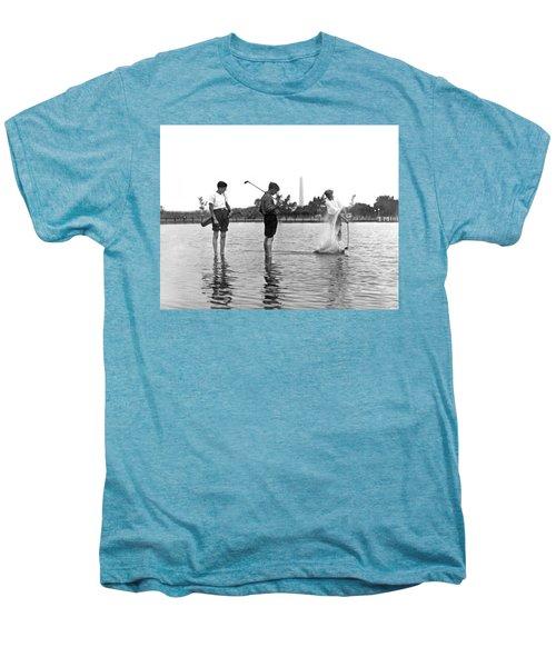 Water Hazard On Golf Course Men's Premium T-Shirt