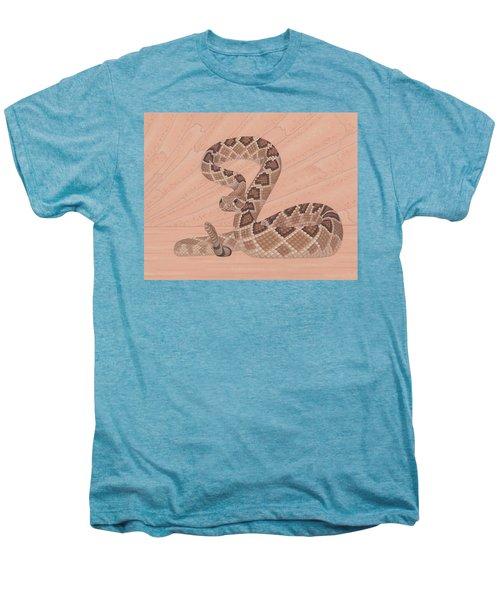Western Diamondback Rattlesnake Men's Premium T-Shirt by Nathan Marcy