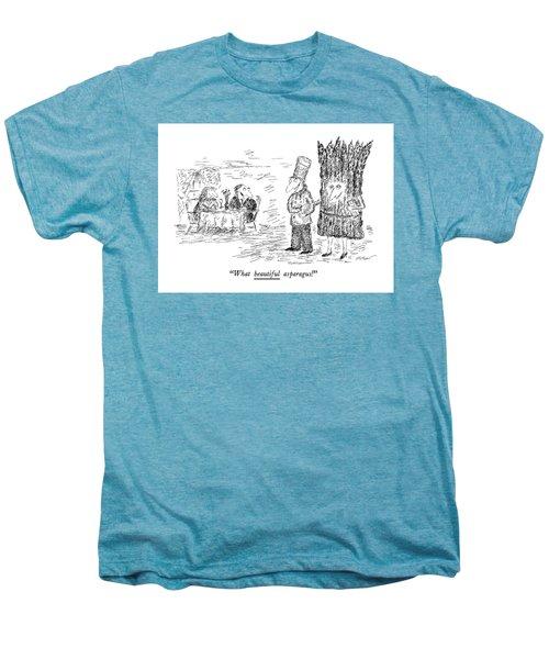 What Beautiful Asparagus! Men's Premium T-Shirt by Edward Koren