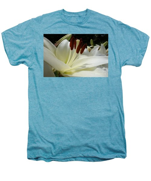 White Asiatic Lily Men's Premium T-Shirt by Jacqueline Athmann