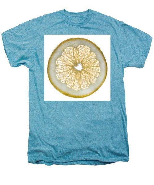 White Grapefruit Slice Men's Premium T-Shirt by Steve Gadomski