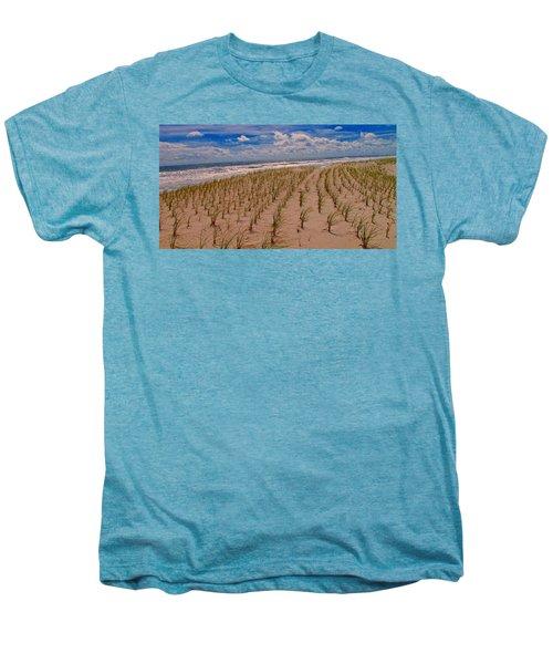 Wildwood Beach Breezes  Men's Premium T-Shirt by David Dehner