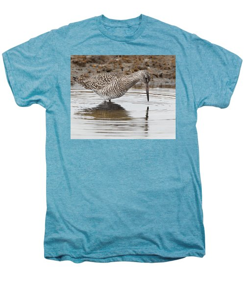 Willet Men's Premium T-Shirt by Bill Wakeley