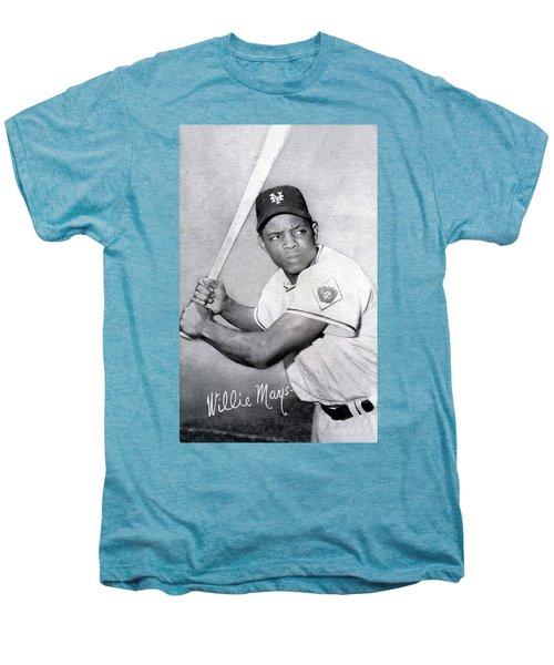 Willie Mays  Poster Men's Premium T-Shirt