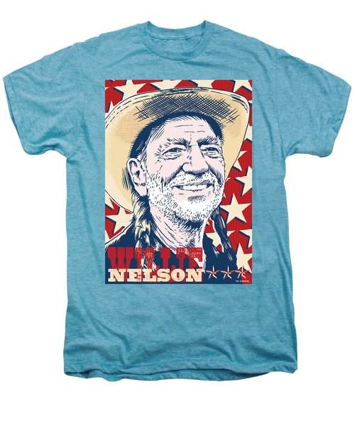 Willie Nelson Pop Art Men's Premium T-Shirt by Jim Zahniser