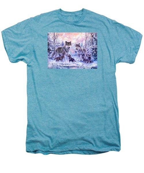 Winter Wolf Family  Men's Premium T-Shirt