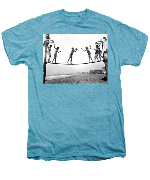 Women Play Beach Basketball Men's Premium T-Shirt by Underwood Archives