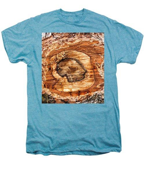 Wood Detail Men's Premium T-Shirt by Matthias Hauser