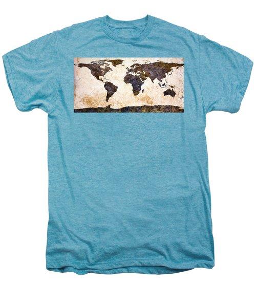World Map Abstract Men's Premium T-Shirt