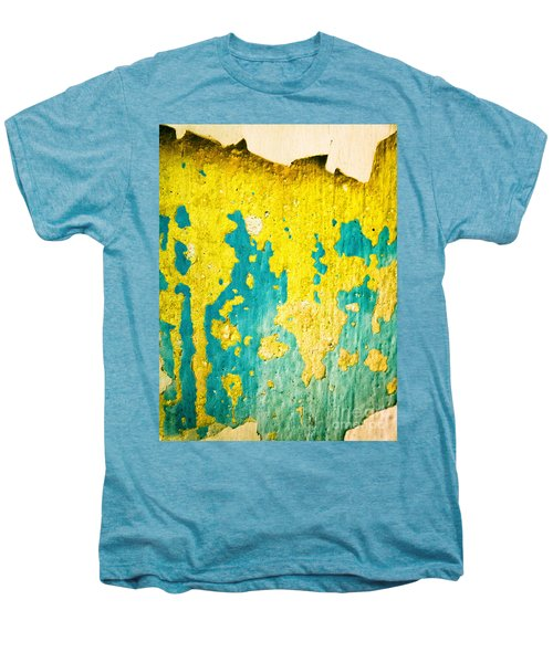 Men's Premium T-Shirt featuring the photograph Yellow And Green Abstract Wall by Silvia Ganora