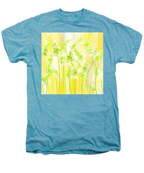 Yellow And Green Art Men's Premium T-Shirt by Lourry Legarde