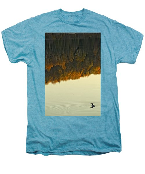 Loon In Opeongo Lake With Reflection Men's Premium T-Shirt