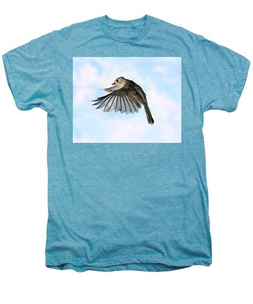 Tufted Titmouse In Flight Men's Premium T-Shirt