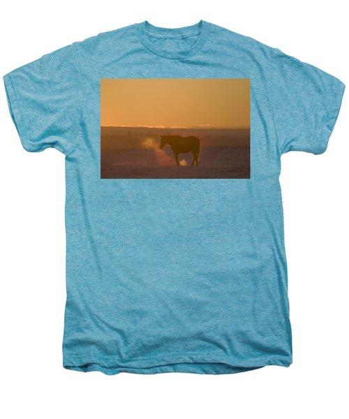 Alberta, Canada Horse At Sunset Men's Premium T-Shirt