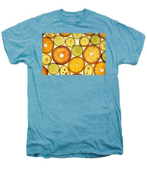 Citrus Slices Men's Premium T-Shirt by Photo Researchers