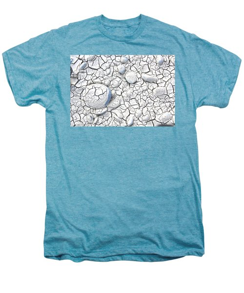 Men's Premium T-Shirt featuring the photograph Cracked Earth by Nareeta Martin