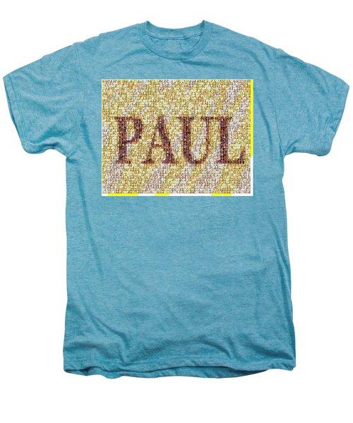 Custom Paul Mosaic Taylor Swift Men's Premium T-Shirt by Paul Van Scott