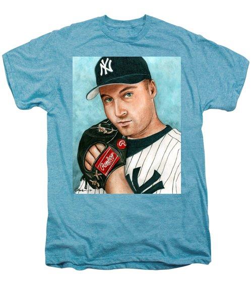 Derek Jeter  Men's Premium T-Shirt by Bruce Lennon