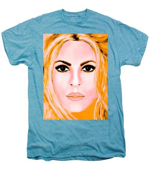 Gold Shakira Men's Premium T-Shirt by Mathieu Lalonde