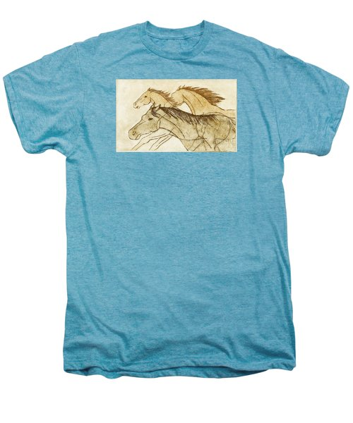 Men's Premium T-Shirt featuring the drawing Horse Sketch by Nareeta Martin