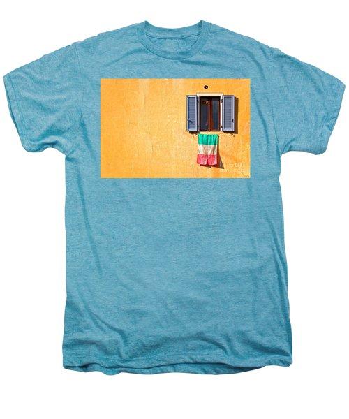Italian Flag Window And Yellow Wall Men's Premium T-Shirt