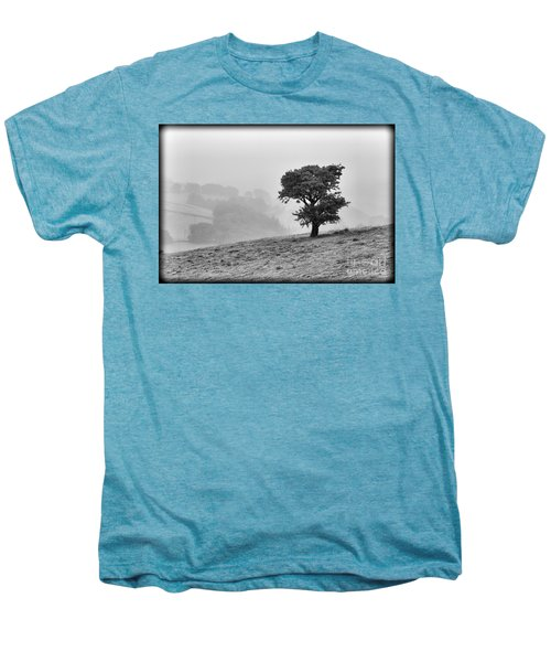 Men's Premium T-Shirt featuring the photograph Oak Tree In The Mist. by Clare Bambers