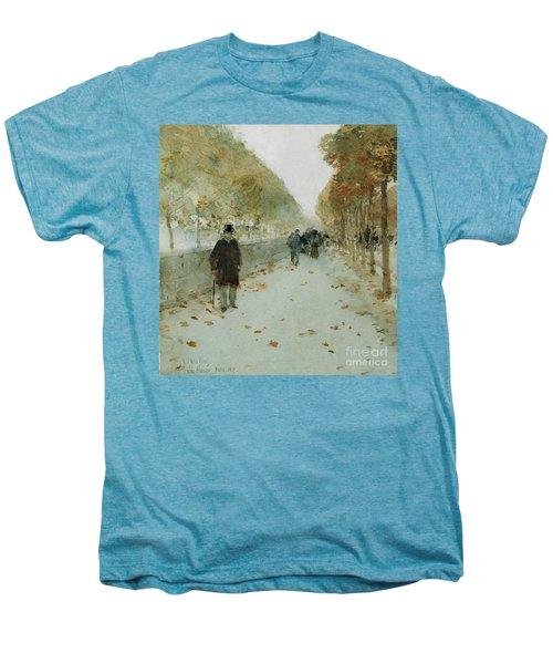 Quai Du Louvre Men's Premium T-Shirt by Childe Hassam