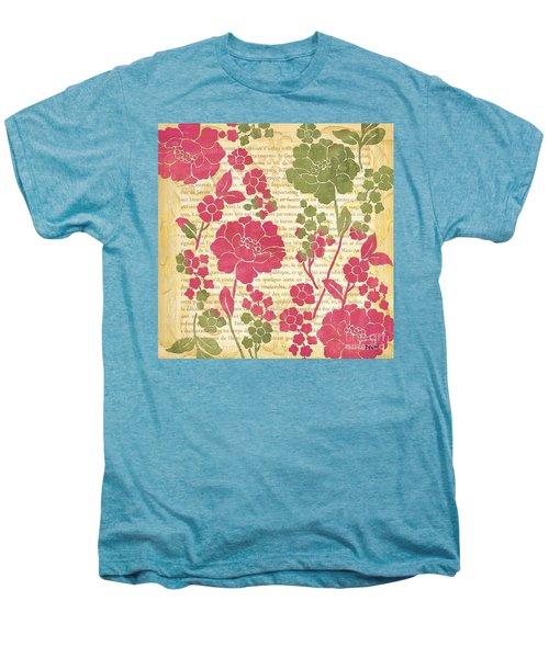 Raspberry Sorbet Floral 2 Men's Premium T-Shirt by Debbie DeWitt