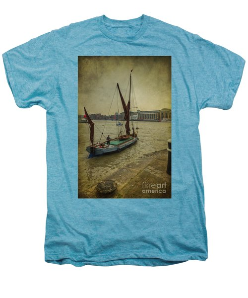 Men's Premium T-Shirt featuring the photograph Sailing Away... by Clare Bambers