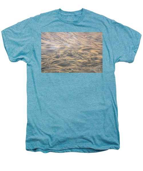 Men's Premium T-Shirt featuring the photograph Sand Patterns by Nareeta Martin
