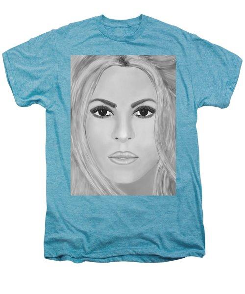 Shakira Black And White Men's Premium T-Shirt