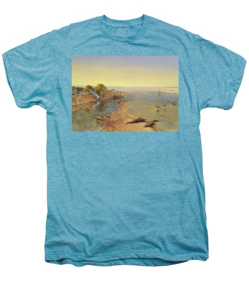 The Ganges Men's Premium T-Shirt by William Crimea Simpson