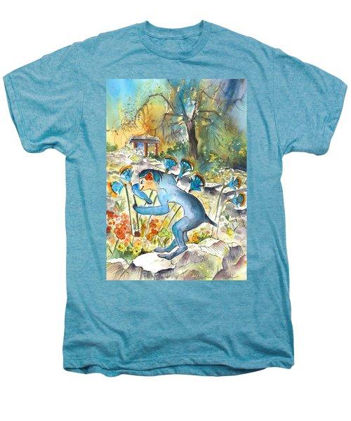 The Minotaur In Knossos Men's Premium T-Shirt by Miki De Goodaboom