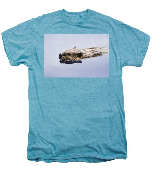 View Of Beaver, Chaudiere-appalaches Men's Premium T-Shirt by Yves Marcoux