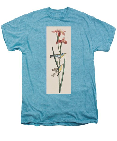 Blue Yellow-backed Warbler Men's Premium T-Shirt by John James Audubon
