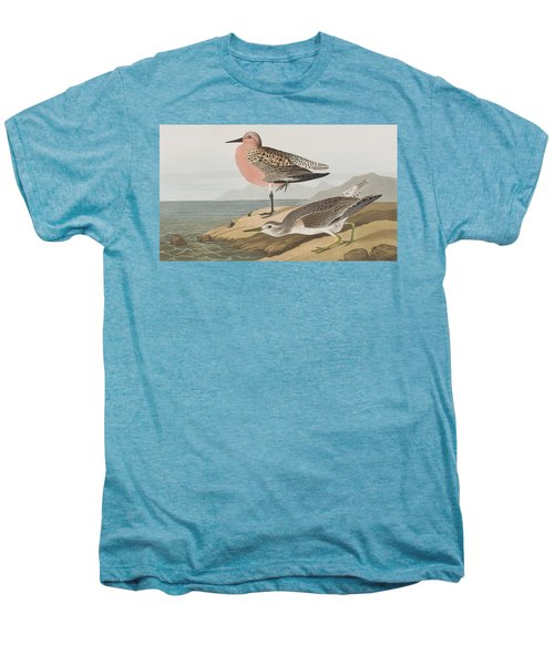 Red-breasted Sandpiper  Men's Premium T-Shirt by John James Audubon